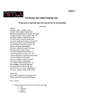 Romeo and Juliet Reading Test - SAT style