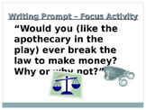 Romeo and Juliet - Review Activity (Create Jeopardy Questions)