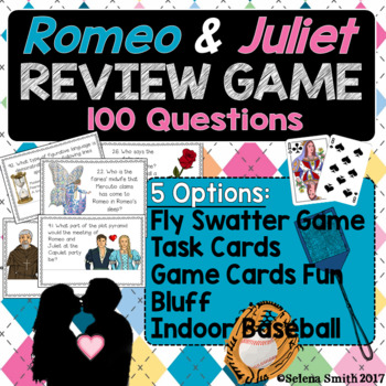 Romeo and Juliet Review Games and Task Card Options