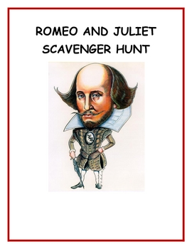 Romeo and Juliet Scavenger Hunt