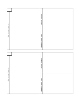 Romeo and Juliet Scene Notes Template