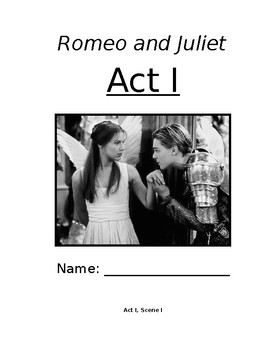 Romeo and Juliet - Shakespeare Act One Student Materials