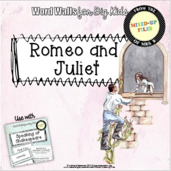 Romeo and Juliet Shakespeare Word Wall
