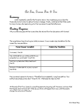 Romeo and Juliet- Acts I-II Study Guide