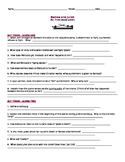Romeo and Juliet - Study Guide Questions