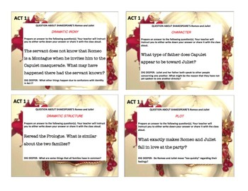 Romeo and Juliet Task Cards!