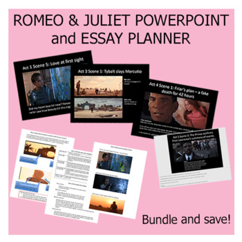 Romeo and Juliet Bundle: Analysis Powerpoint + Essay Paragraph Planner