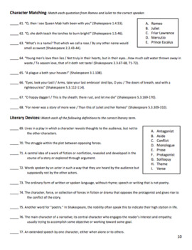Romeo and Juliet Test and Review