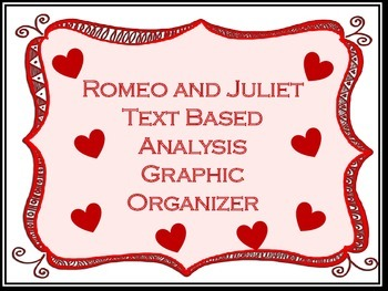 Romeo and Juliet Text Based Analysis Graphic Organizer