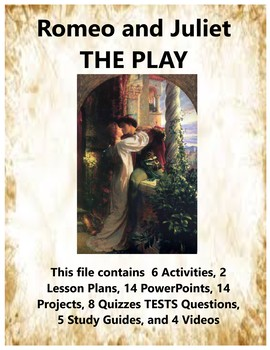Romeo and Juliet The Play Teacher Supplemental Resources Fun Engaging