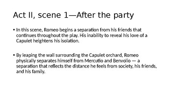 Romeo and Juliet--The Tragedy of Growing Up