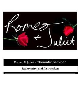 Socratic Seminar - Romeo and Juliet - Common Core Aligned