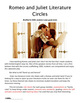 Romeo and Juliet Themed Literature Circle Pack