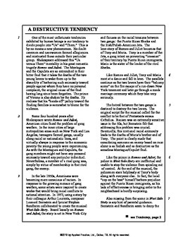 Romeo and Juliet Triplet English skills worksheet by Applied Practice