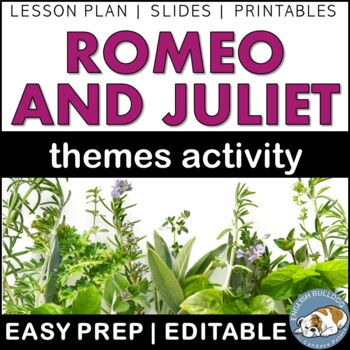 Romeo and Juliet Themes Textual Analysis Activity