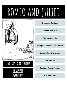 Romeo and Juliet Unit