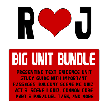 Romeo and Juliet Unit Bundle - A 9th Grade English Value - 50% Off