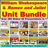 Romeo and Juliet Unit Bundle:  Paperless, No Prep