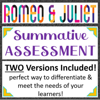 Romeo and Juliet Unit Exam
