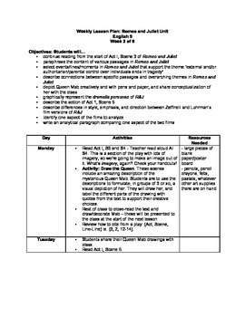 Romeo and Juliet Unit - Lessons, Handouts, Assignments, Rubrics, and Extensions