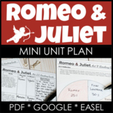 Romeo and Juliet Distance Learning Unit With Google Links