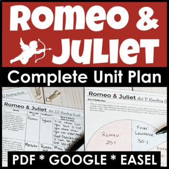 Romeo and Juliet Unit Plan With Four Weeks of Engaging Lessons and Activities