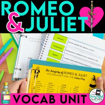 Romeo and Juliet Vocabulary Words, Activities and Quizzes Bundle