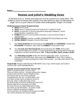 Romeo and Juliet Vows
