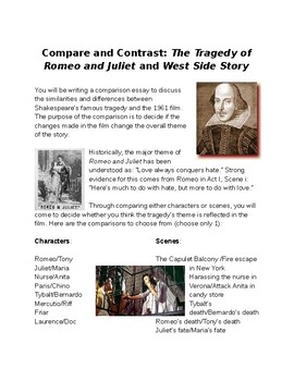 comparative essay on romeo and juliet and west side story