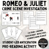 Romeo and Juliet - Whodunnit Starter Activity