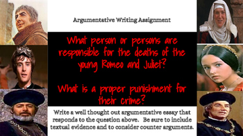 Romeo and Juliet Writing Prompts