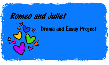 Romeo and Juliet Photographs Group Project and Analytical Writing Task