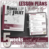 Romeo & Juliet by Shakespeare: Lesson Plan Teaching Unit