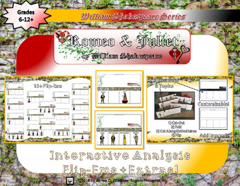 Romeo and Juliet by William Shakespeare Interactive Activity Bundle