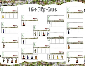 Romeo and Juliet  by William Shakespeare Interactive Character Flip-Ems