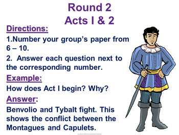 Romeo and Juliet by William Shakespeare Trashketball Review Game