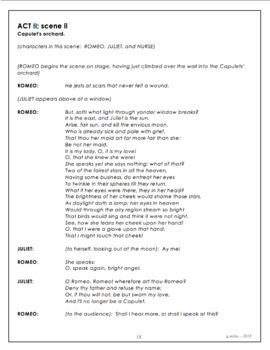 Romeo and Juliet - elementary or middle school script