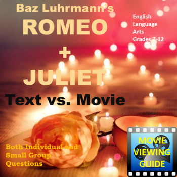 Romeo and Juliet movie guide 1996 Luhrmann Video Text Connection
