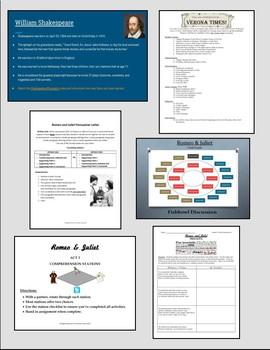 Romeo and Juliet's Teacher Bundle - Unit Plan