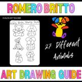 Romero Britto  Pop Art Student  Visual Arts Drawing Guide