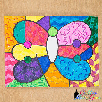 Romero Britto Butterflies Art History Game {Pop Art Project and Art Sub Plans}