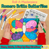 First Day of Spring: Romero Britto Butterfly Art History Game and Art Sub Plans