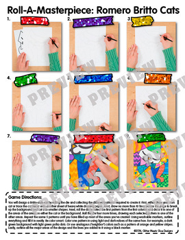 Romero Britto Cats Art History Game {Pop Art Project and Art Sub Plans}