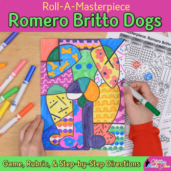Romero Britto Dogs Art History Game {Pop Art Project and Art Sub Plans}
