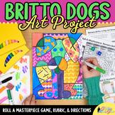 Romero Britto Dogs Art History Roll A Dice Game: Pop Art Project & Art Sub Plans