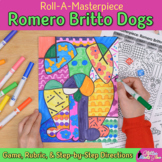 Romero Britto Dogs Art History Roll A Dice Game: Pop Art Project & Art Sub Plans