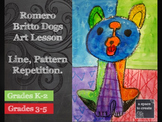 Romero Britto Dogs - Art History Lesson, 3 day Art Lesson