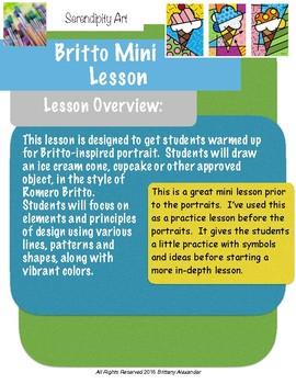 Romero Britto Inspired Lesson