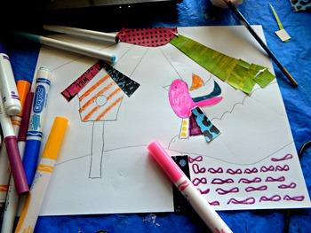 "Art Lesson Romero Britto ""Bird"" Grades 2-6 Kids Art Lesson Pop Art Iconic Art"