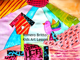 "Art Lesson Romero Britto ""Bird"" Grades 2-6 Kids Art Lesson Pop Art Iconic Art"